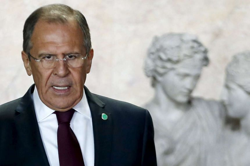 It was unclear who Lavrov (above) was referring to with his remark.
