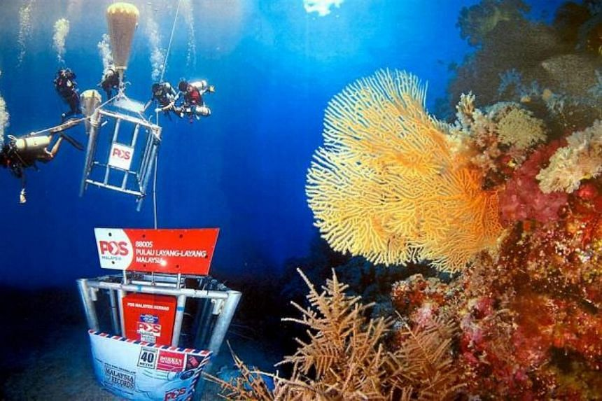 The deep sea post box launched by Pos Malaysia Bhd.