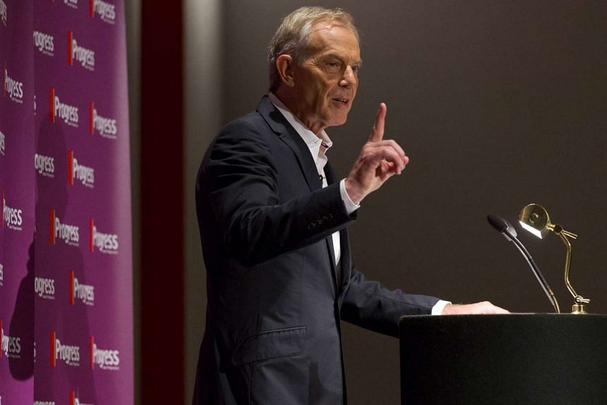 Tony Blair gestures as he speaks at an event attended by Labour supporters in central London on July 22, 2015.