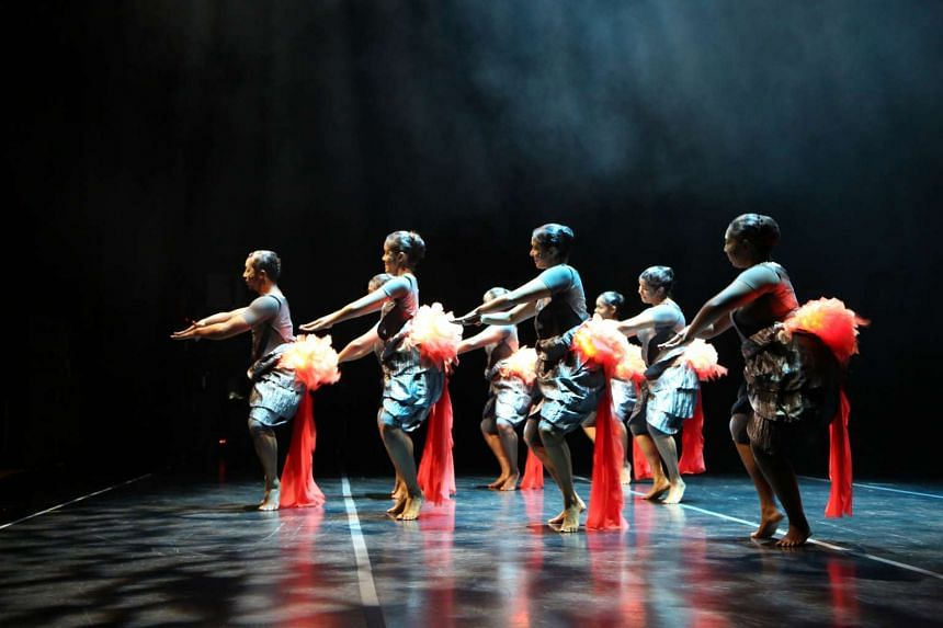 Returning, a large-scale dance piece conceived and directed by Goh Lay Kuan, takes inspiration from the life cycle of the salmon.