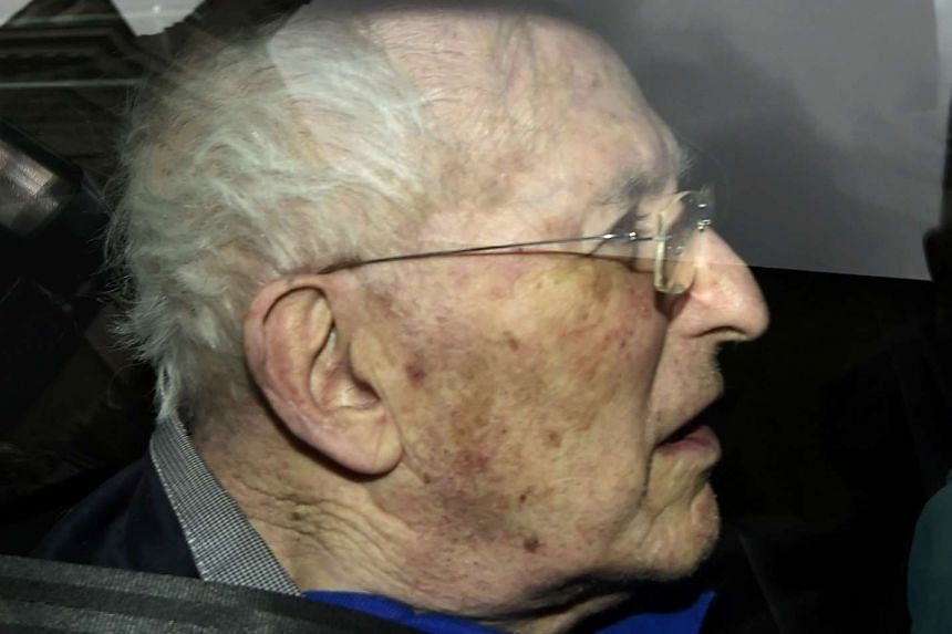 Lord Greville Janner leaves Westminster Magistrates' Court in London, Britain on Aug 14, 2015.