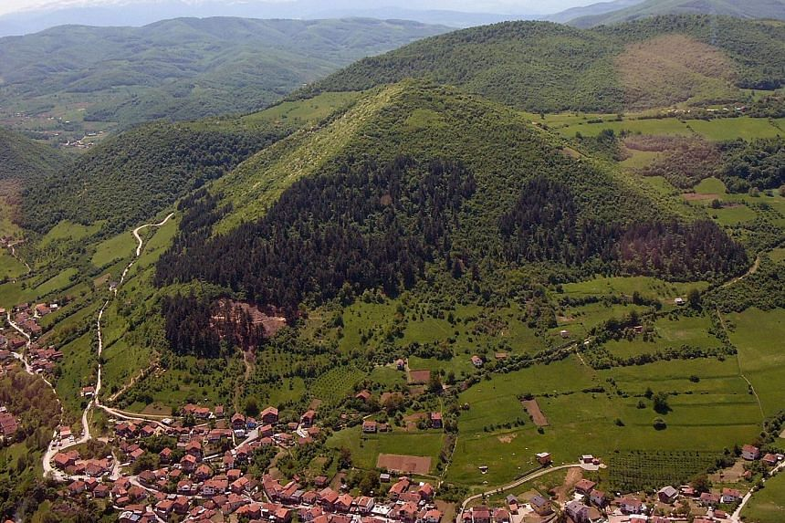 Dr Sam Osmanagich says this hill is the Bosnian Pyramid of the Sun. At 220m in height, it is taller and possibly bigger than Egypt's 147m-tall Great Pyramid. He claims he has discovered underground tunnels connecting the five pyramids in the town of