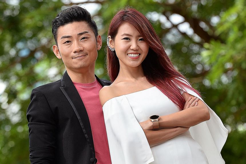 Singers Alfred Sim and Tay Kewei (both top) will entertain at West Coast Rocks, while Cantopop star Frances Yip (above) will sing at Bishan.