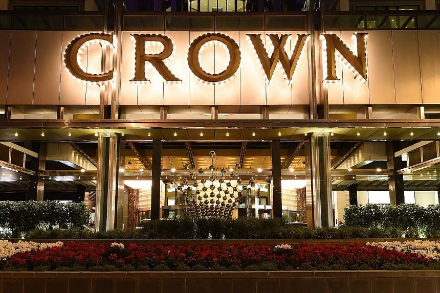 Crown said its main floor gaming revenue increased by 6.9 per cent in Melbourne (left) and 2.6 per cent in Perth over the 2014/2015 financial year.
