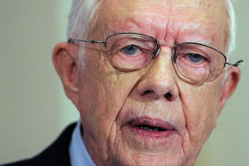 Mr Jimmy Carter, 90, who left the White House in 1981, has been among the most active figures in American public life.