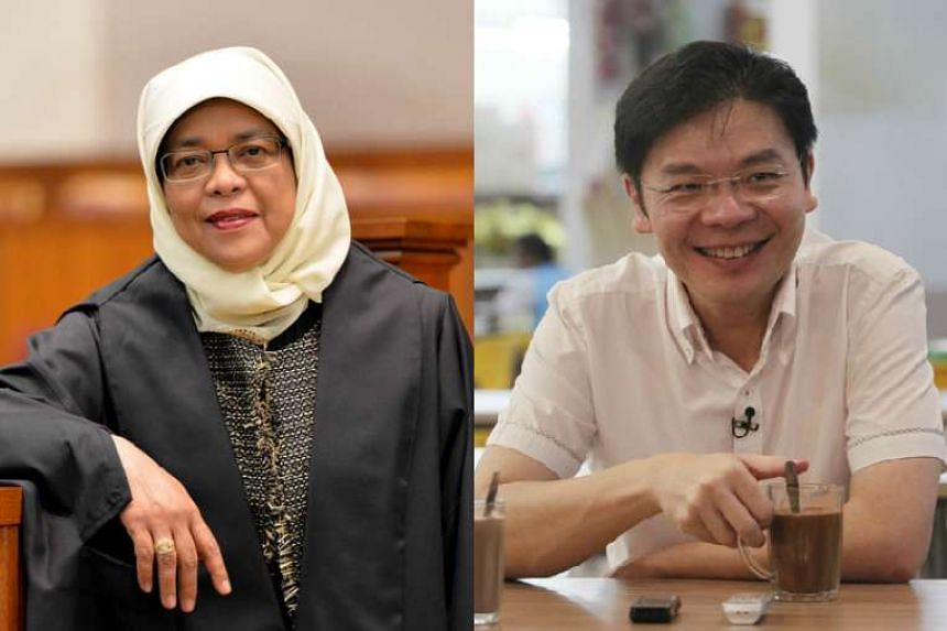 Mr Wong (right) and Madam Halimah are slated to contest the new Marsiling-Yew Tee GRC for the coming general election.