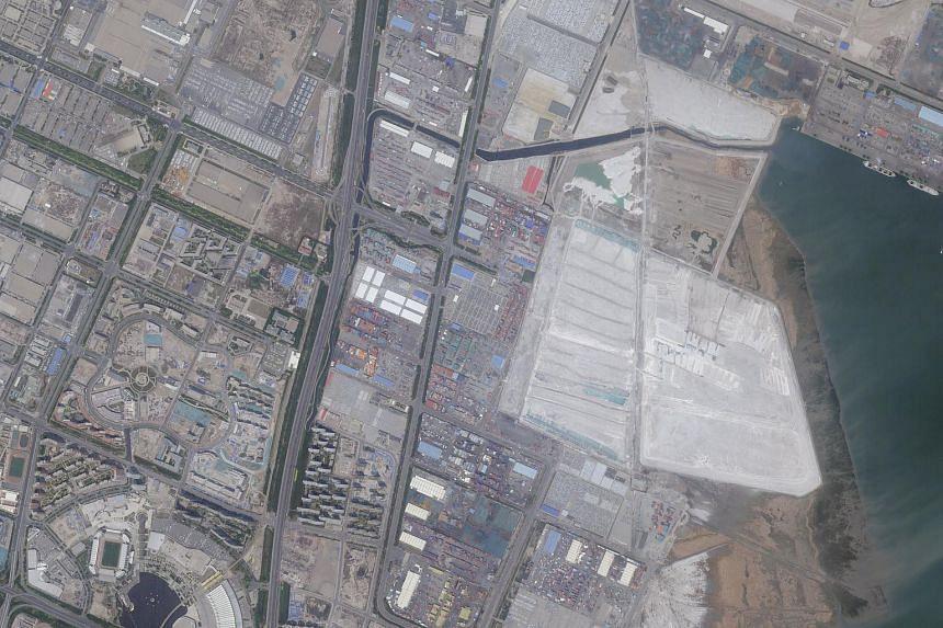 A satellite image of Tianjin, taken on May 25.