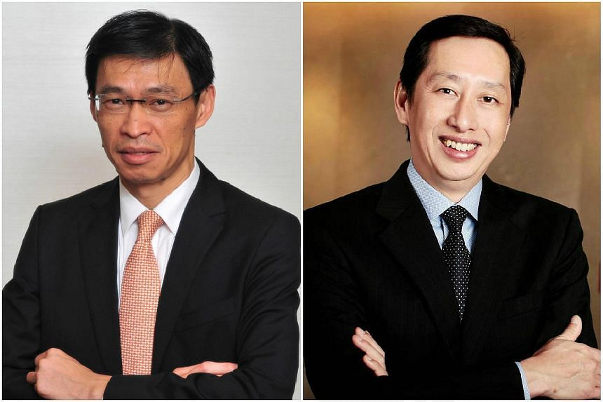 Mr Tan Hak Leh (left) has been appointed group chief risk officer of AIA Group. AIA also announced the appointment of Mr Patrick Teow (right) as the new AIA Singapore chief executive.