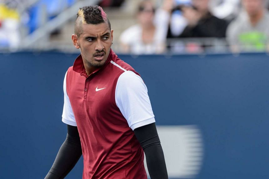 Nick Kyrgios of Australia looks on during his match against John Isner of the USA on day four of the Rogers Cup at Uniprix Stadium on Aug 13, 2015, in Montreal, Quebec, Canada.