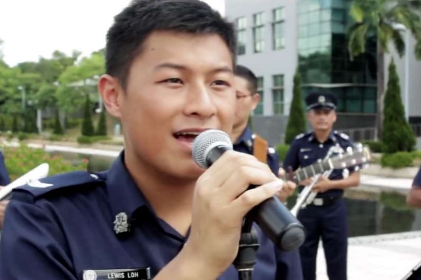 Some netizens focused not on the song, but on the looks of the officer singing it.