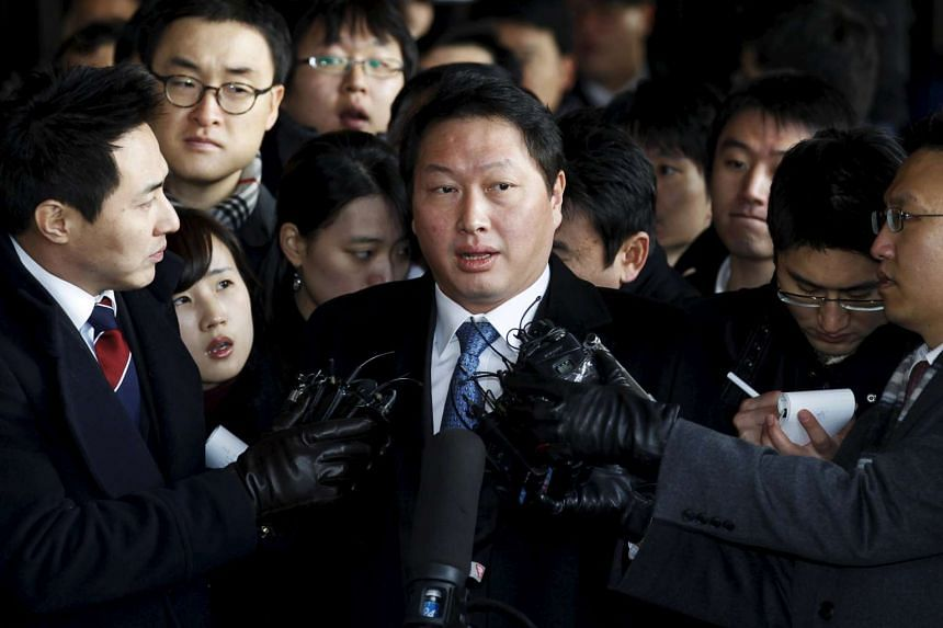 South Korea granted pardons on Aug 13 to 6,527 people including Chey Tae-won (pictured), chairman of the SK Group.