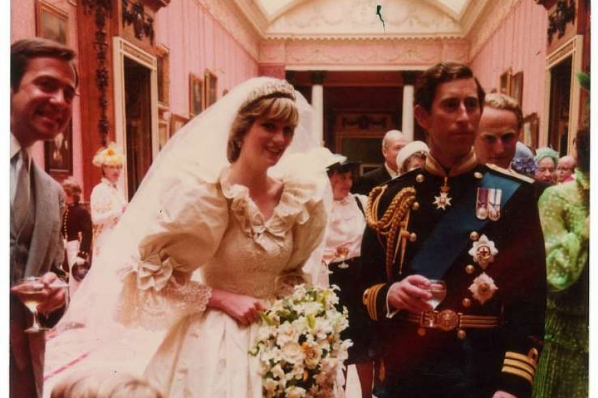 Prince Charles and Princess Diana in a previously unpublished wedding photo up for auction in the US.