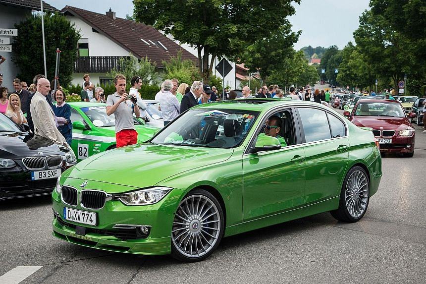 A parade of Alpina cars in Buchloe was the highlight of the carmaker's jubilee festivities.