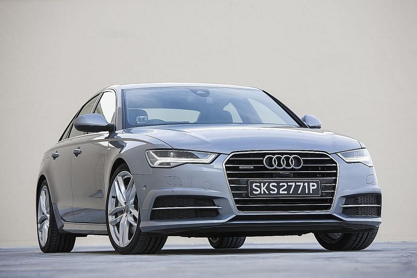 The Audi A6 quattro 3.0 has a sleek bodykit and racy 20-inch alloy wheels.
