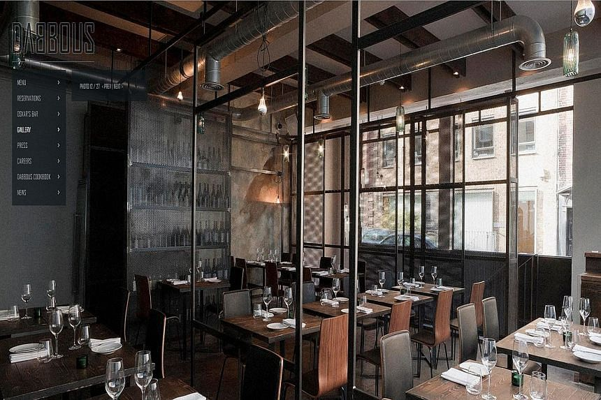 Chef Ollie Dabbous' London restaurant Dabbous (above) is always booked out and has a year-long waiting list.