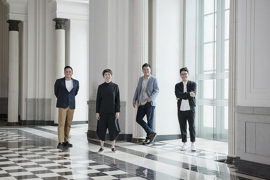 Gallery & Co is owned by design collective & Co, which is founded by (from far left) Mr Alwyn Chong, Ms Yah-Leng Yu, Mr Loh Lik Peng and Mr Arthur Chin.
