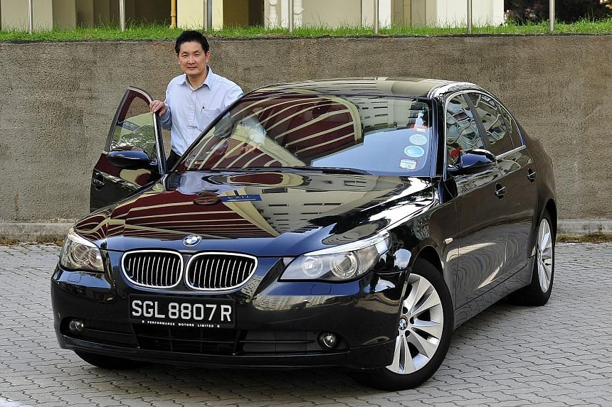 Mr Paul Lim plans to sell his nine-year-old BMW 523i after driving it for about a year.