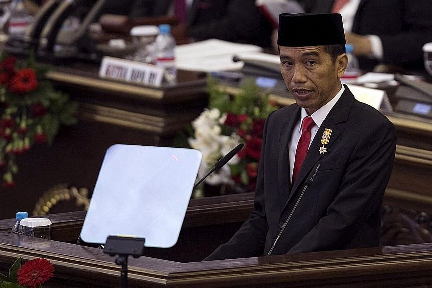 Indonesian President Joko Widodo indicated he was open to more private sector involvement, including foreign investment, to accelerate the development of large-scale projects such as bridges, ports and airports.