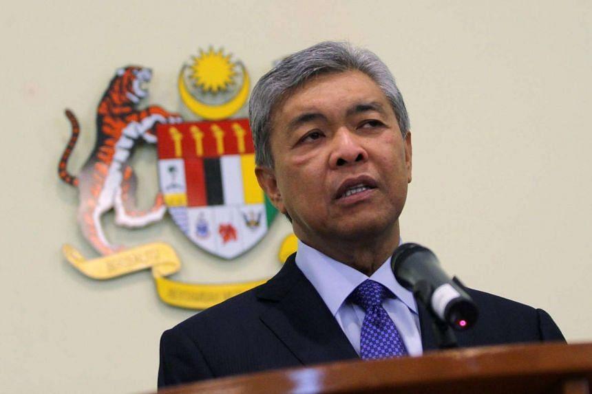 Malaysian Deputy Prime Minister Ahmad Zahid Hamidi says on August 15, 2015 that there is an Umno leader who is behind a plot with opposition MPs to topple the government. --