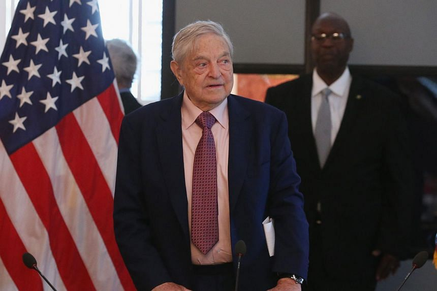 Billionaire George Soros attends a discussion at the Blair House in Washington, DC on May 20, 2015.