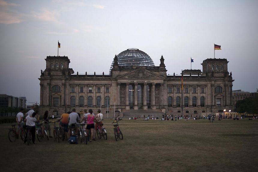 The Reichstag building, the seat of the German lower house of parliament Bundestag, is pictured in Berlin on Aug 14, 2015.