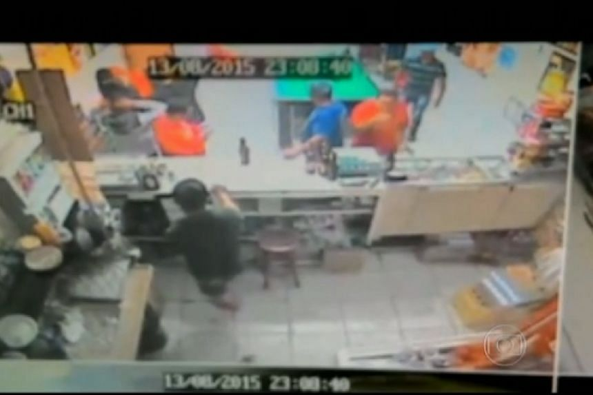 A screenshot from CCTV footage of one attack.
