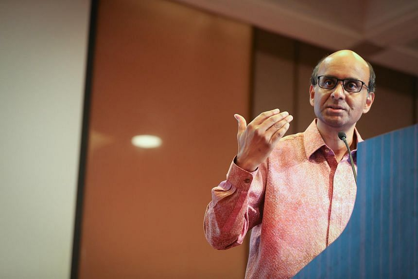 Deputy Prime Minister Tharman Shanmugaratnam speaking at a special lecture to the Economic Society of Singapore on Aug 14.