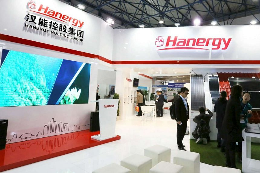 Hanergy Thin Film said it may record a loss for the first half of the year after suspending or terminating a large number of sales to its parent company and affiliates.