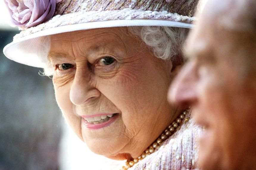 Queen Elizabeth II at a service to commemorate the 70th anniversary of Victory over Japan in London on Aug 15, 2015.