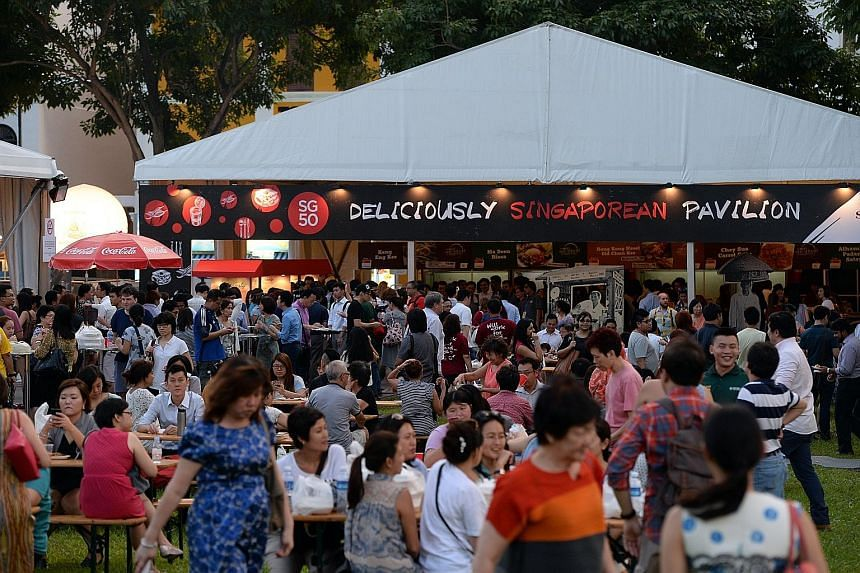 The World Street Food Congress in Singapore in April this year, where diners sampled street food from Singapore and around the world.