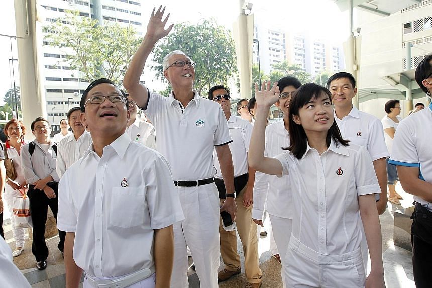 The victorious PAP team of Marine Parade GRC at the last elections: (from left) Mr Seah Kian Peng,Mr Goh Chok Tong, Dr Fatimah Lateef, Ms Tin Pei Ling and Mr Tan Chuan-Jin.