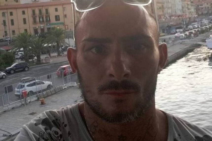 An Italian daily identified the victim as Gabriele di Ponto (above), who had a long list of convictions for drug-trafficking, armed robbery and violence.