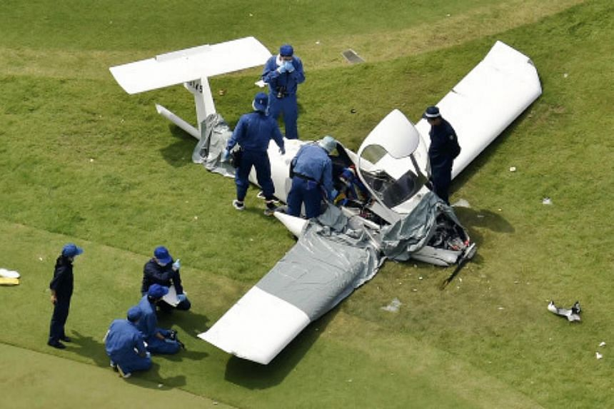 Two men were killed after the plane they were believed to be in crashed in a golf course in Tokyo somewhere between Saturday night and Sunday morning.