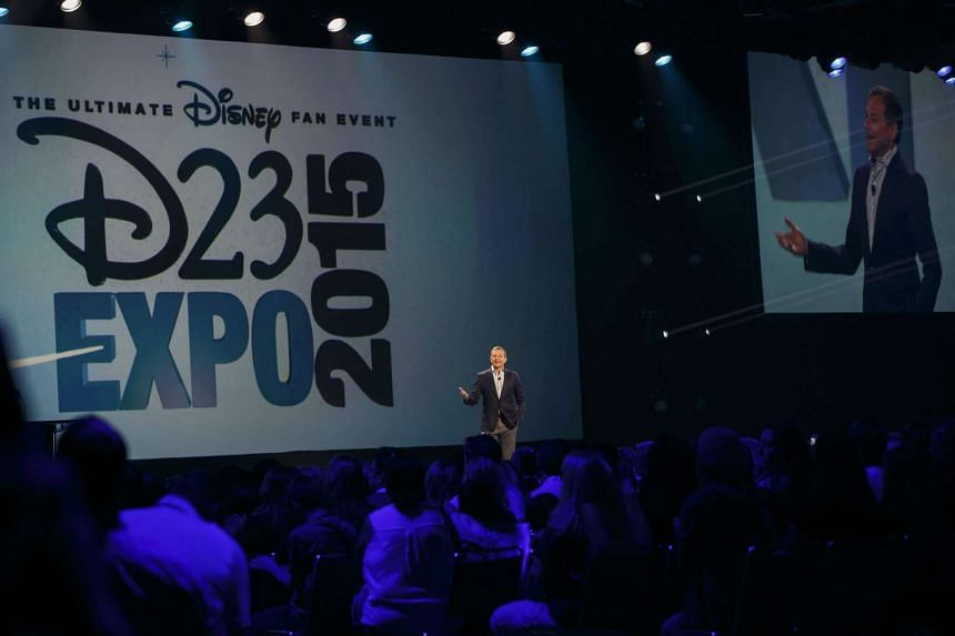 """Robert """"Bob"""" Iger, chief executive officer of The Walt Disney Co., speaks during the Disney Legends Awards at the D23 Expo 2015 in Anaheim, California, US on Aug 14, 2015."""
