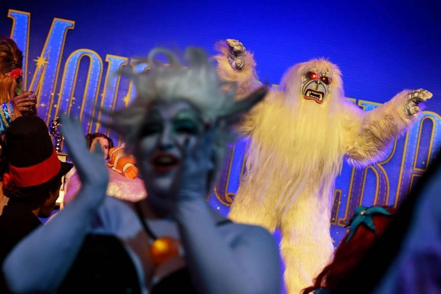 Bruce the Yeti arrives for a costume competition at the Disney D23 EXPO 2015 held at the Anaheim Convention Center in Anaheim, California on Aug 14, 2015.