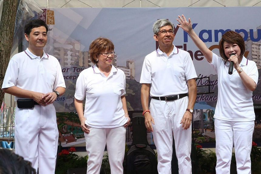 PAP's four-member Jalan Besar team (from left) Heng Chee How, Denise Phua, Yaacob Ibrahim and Lily Neo on Aug 16, 2015.