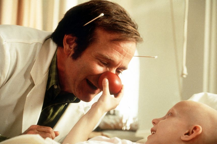 Heal the heart: Robin Williams in the 1998 movie Patch Adams. The end in mind for medicine, says surgeon Atul Gawande, is to give the frail as much joy and meaning as possible.