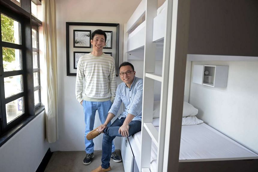 Mr Joshua Goh (left) and Mr Lim Boon Cheow, founders of 5Footway Inn, have ventures in Macau and Hong Kong.