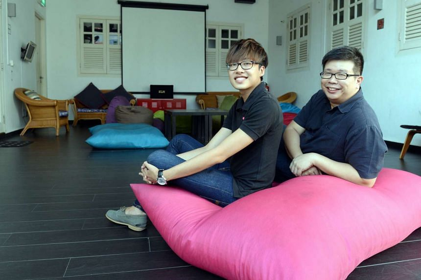 Bunc Hostel, managed by Mr Damien Ko (above left, seen with Mr Lim Shyue Jian, group chief operating officer of Radiance Hospitality Group), links up with local attractions to offer discounts to its guests.