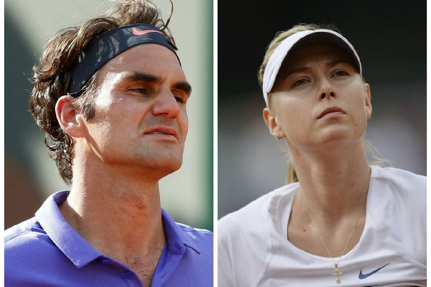 Federer (left) and Sharapova are returning to competitive tennis after long post-Wimbledon pauses.