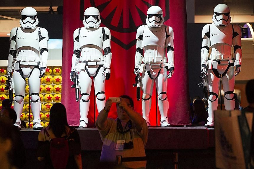 Stormtroopers from Star Wars stood out at the D23 Expo in California last Friday.