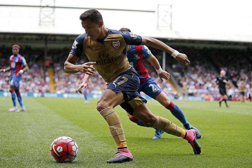 Chile winger Alexis Sanchez, making a belated maiden start of the season, was quickly back in the thick of the action.