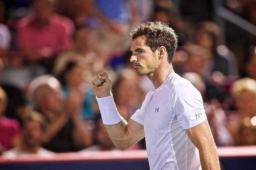 Andy Murray after his 6-3, 6-0 win against Kei Nishikori in the semi-final in Montreal.