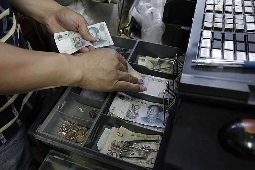 The People's Bank of China raised the yuan rate last Friday in a bid to stabilise the currency. There were three rounds of devaluation earlier last week, which sent the yuan down by 3 per cent.
