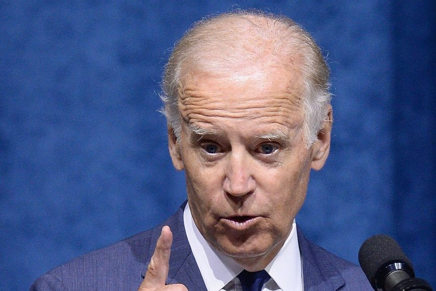 Mr Joe Biden speaking last Saturday at a memorial service for the five victims of the July 16 shootings in Chattanooga.
