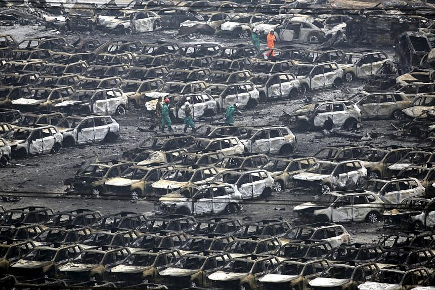 Several Japanese automakers including Toyota Motor Corp. reported damage to cars and facilities after two huge explosions at the Chinese port of Tianjin tore through an industrial area where toxic chemicals and gas were stored.