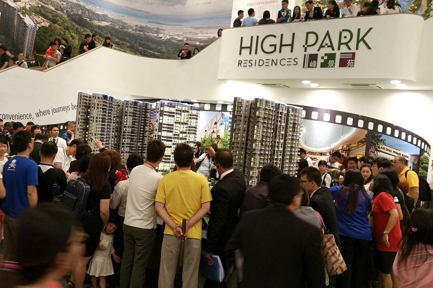 Thousands turned up for the opening of the sales gallery for High Park Residences in Fernvale Road.