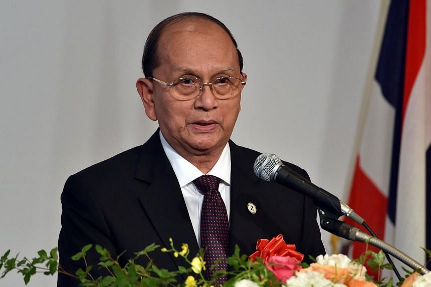 Myanmar President Thein Sein at a forum on July 3, 2015.