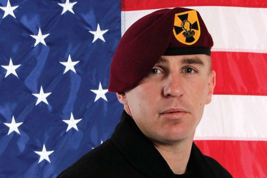 Sergeant First Class Corey Hood, a member of the US Army's Golden Knights parachute display team, died on Sunday after an accident during a stunt at the Chicago Air & Water Show on Saturday, Aug 15, 2015.