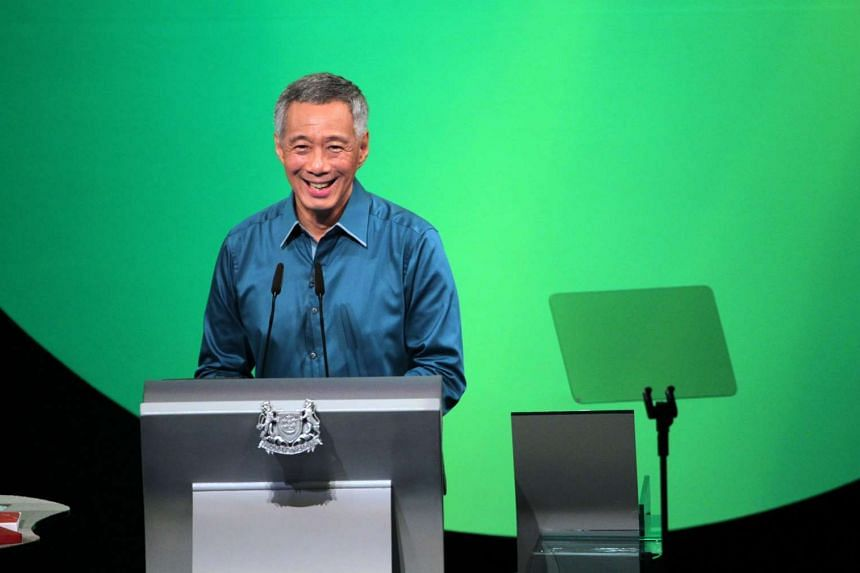 Prime Minister Lee Hsien Loong' speaking at the National Day Rally 2014 held at the Institute of Technical Education (ITE) College Central on Aug 17, 2014.